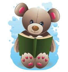 Teddy Bear with Book2 vector image