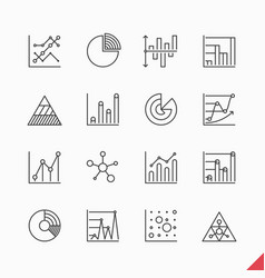 thin linear business data market infographic vector image vector image