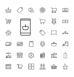33 store icons vector