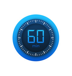 60 minutes stopwatch icon stopwatch vector