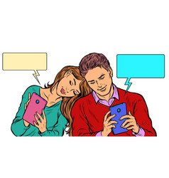 a couple in love a young man and a girl are vector image