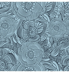 Abstract decorative floral seamless pattern vector image