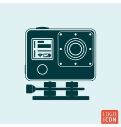 Action camera icon vector image