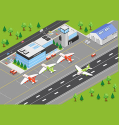 Airport isometric background vector