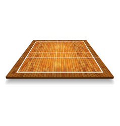 an of an aerial view of a hardwood with vector image