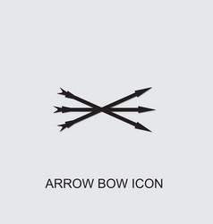 Arrow bow icon vector