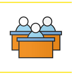 Audience color icon vector