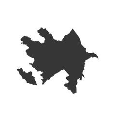 Azerbaijan map silhouette vector image