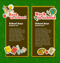 back to school vertical banners vector image