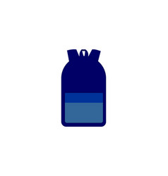 backpack icon simple flat style symbol vector image