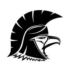 bald eagle in spartan helmet vector image