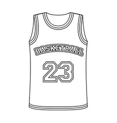 Basketball jerseybasketball single icon in vector