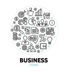 business round concept vector image