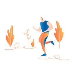 Cartoon running men male sprinter running in vector