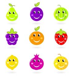 cartoon smiling fruit vector image