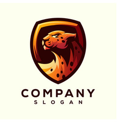 cheetah logo design vector image