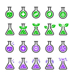 chemical and non chemical icon set vector image
