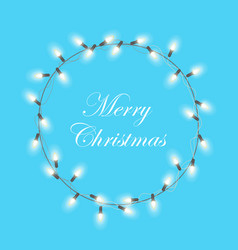 Christmas light garland wreath christmas xmas vector