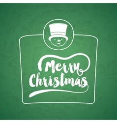 Christmas poster with isolated icon design vector image