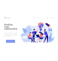 Collaboration concept landing page vector