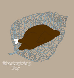 comic thanksgiving day card with a picture of a vector image