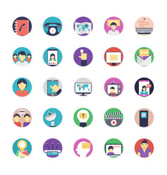 Communication icons pack vector
