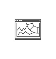 Competitive analysis line icon vector