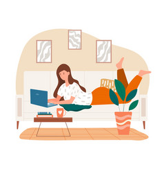 Concept freelance work from home vector