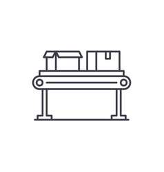 conveyor line line icon concept conveyor line vector image
