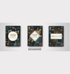 Covers templates set with trendy geometric vector