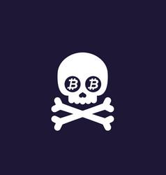 Death bitcoin vector