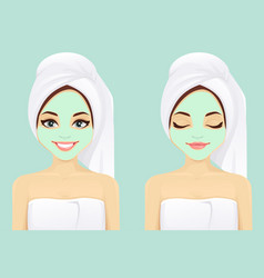 Face skin care woman set vector