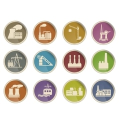 Factory and Industry Symbols vector image