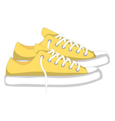 Fashionable woman s shoes snickers elements vector