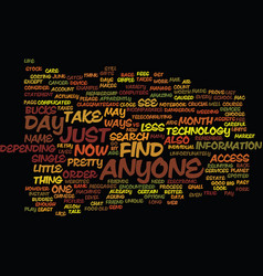 Find anyone text background word cloud concept vector