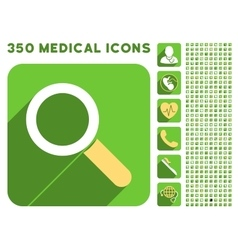Find Icon and Medical Longshadow Icon Set vector image
