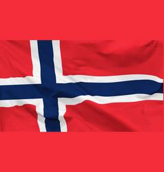 Flag kingdom norway vector