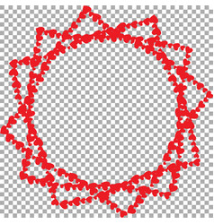 frame in shape of star with twelve rays made of vector image