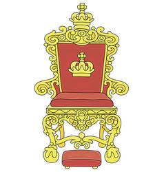 Golden throne an emperor vector