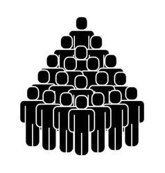 Group of people teamwork silhouette vector