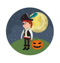 halloween and boy vector image