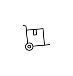 hancart hand truck icon vector image