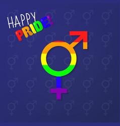 Happy pride equality gender sign vector