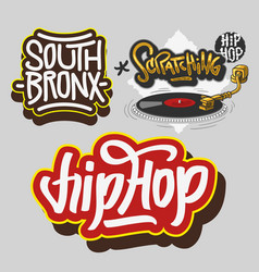 hip hop rap music related vector image