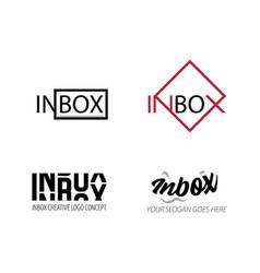 Inbox design logo concept - inbox logo template vector