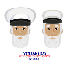 inscription veterans day honoring all who served vector image