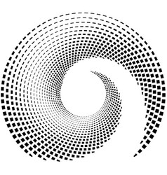 Inward spiral of rectangles abstract geometric vector