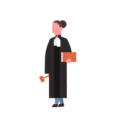 judge woman court worker in judicial robe holding vector image