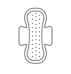Line woman hygienic menstrual pad icon vector