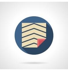 Linoleum covering round flat icon vector